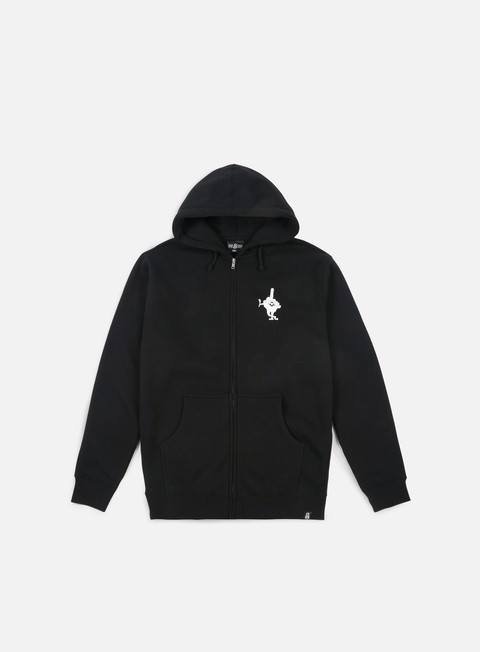 felpe rebel 8 lousy zip up hoodie black