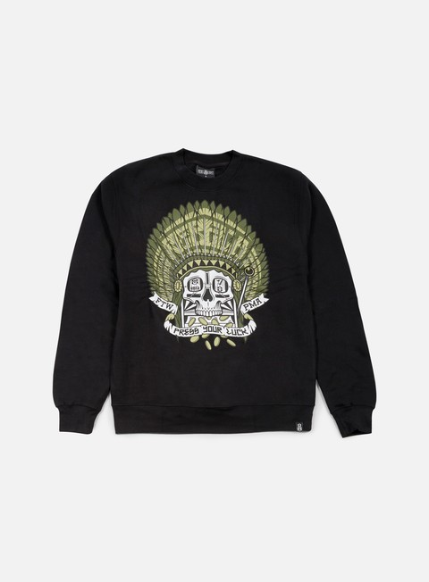 felpe rebel 8 press your luck crewneck black