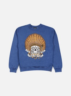 Rebel 8 - Press Your Luck Crewneck, Royal Blue 1