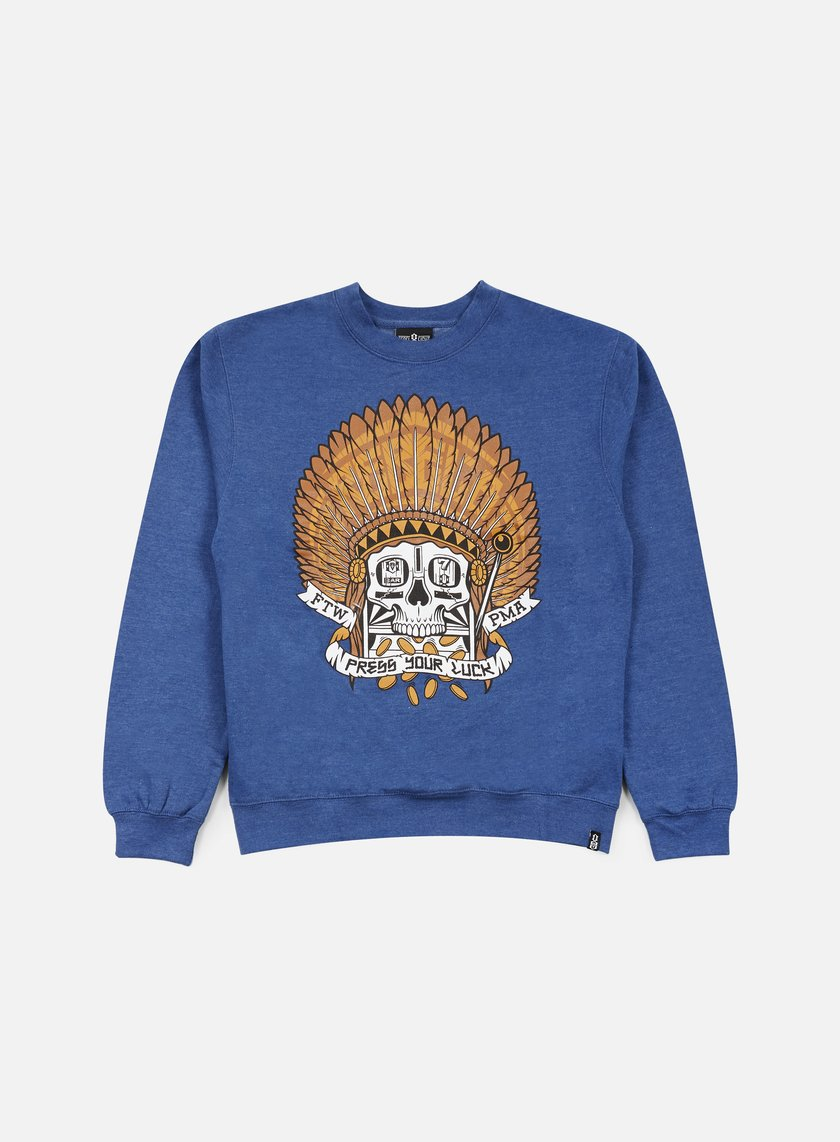 Rebel 8 - Press Your Luck Crewneck, Royal Blue