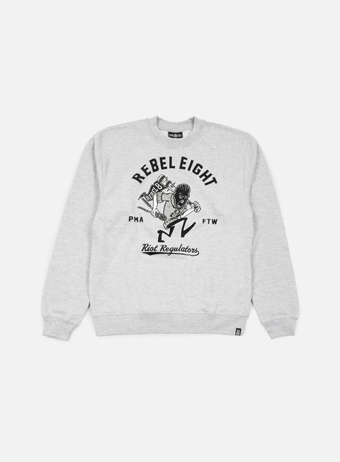 felpe rebel 8 riot regulators crewneck heather grey