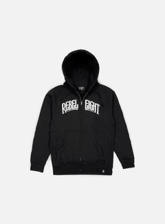 Rebel 8 - Secret Allegiance Zip Up Hoodie, Black 1