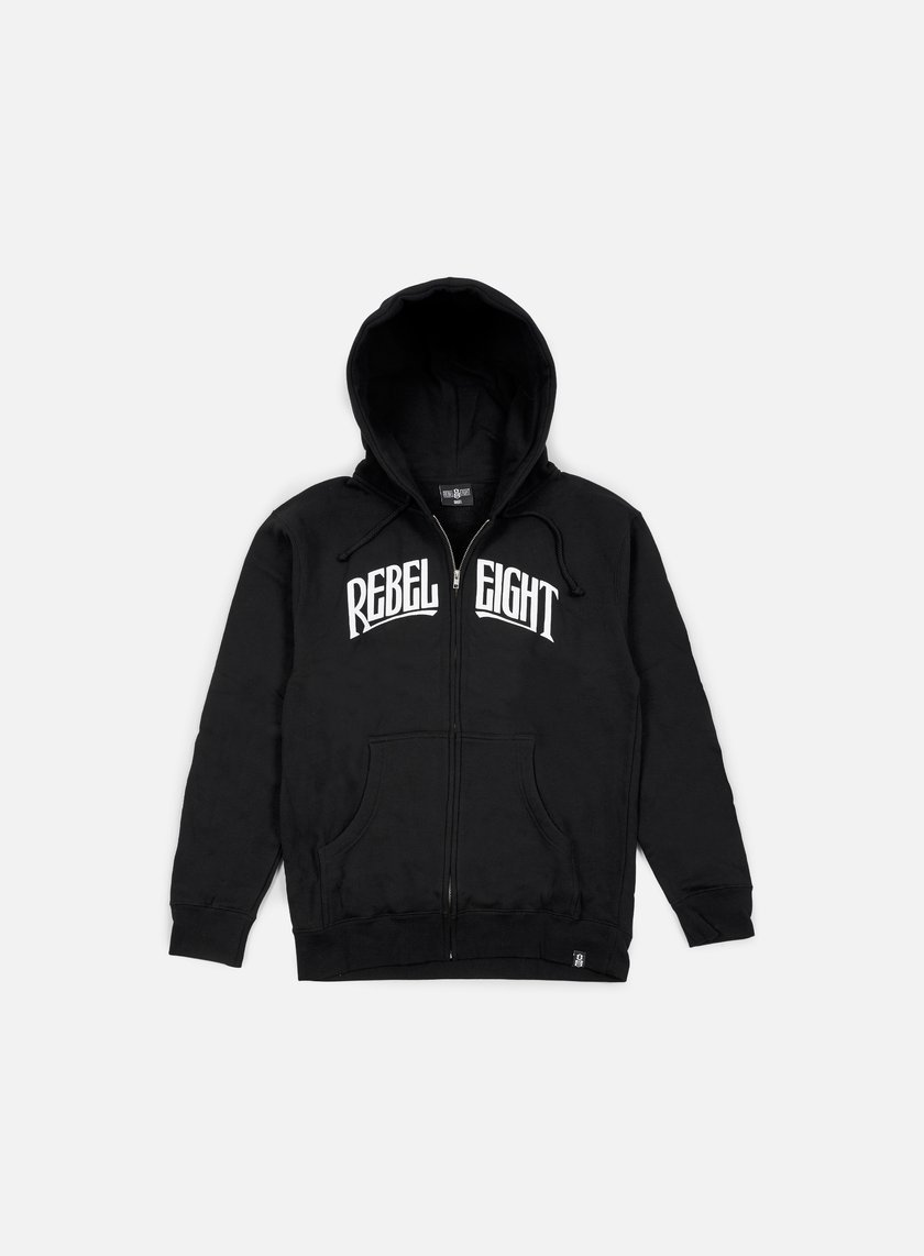 Rebel 8 - Secret Allegiance Zip Up Hoodie, Black