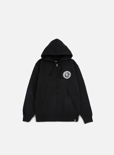 felpe rebel 8 skate core zip hoodie black