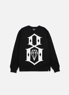 Rebel 8 - Standard Issue Logo Crewneck, Black 1