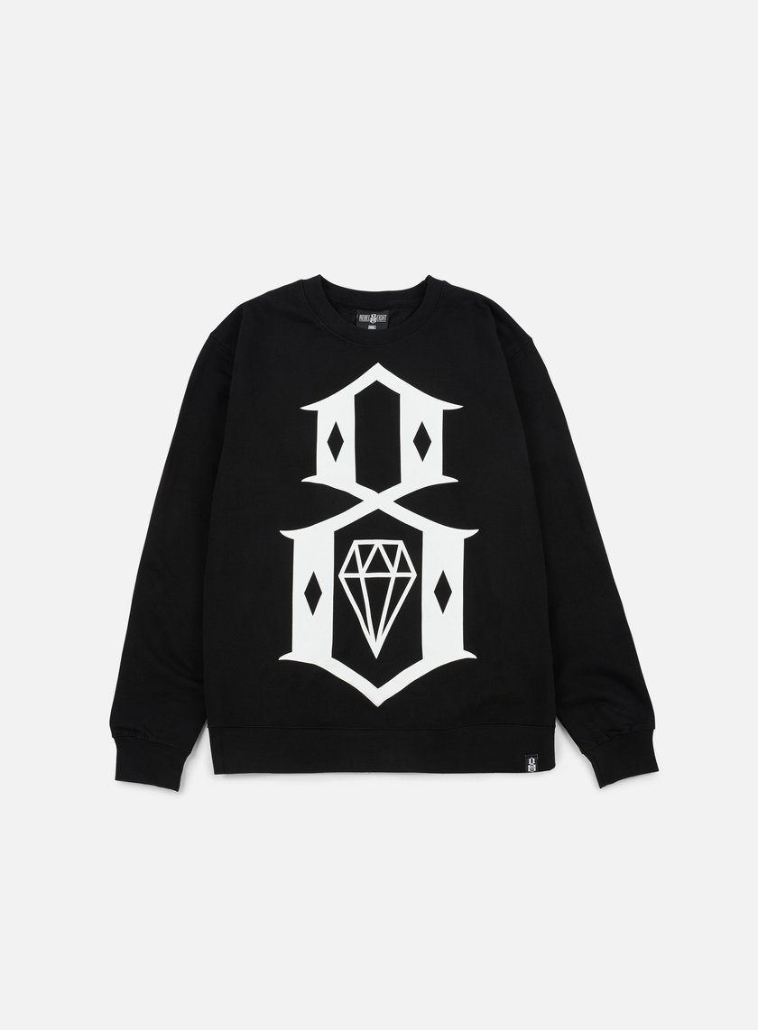 Rebel 8 - Standard Issue Logo Crewneck, Black