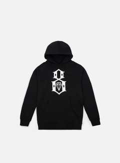 Rebel 8 - Standard Issue Logo Hoodie, Black 1