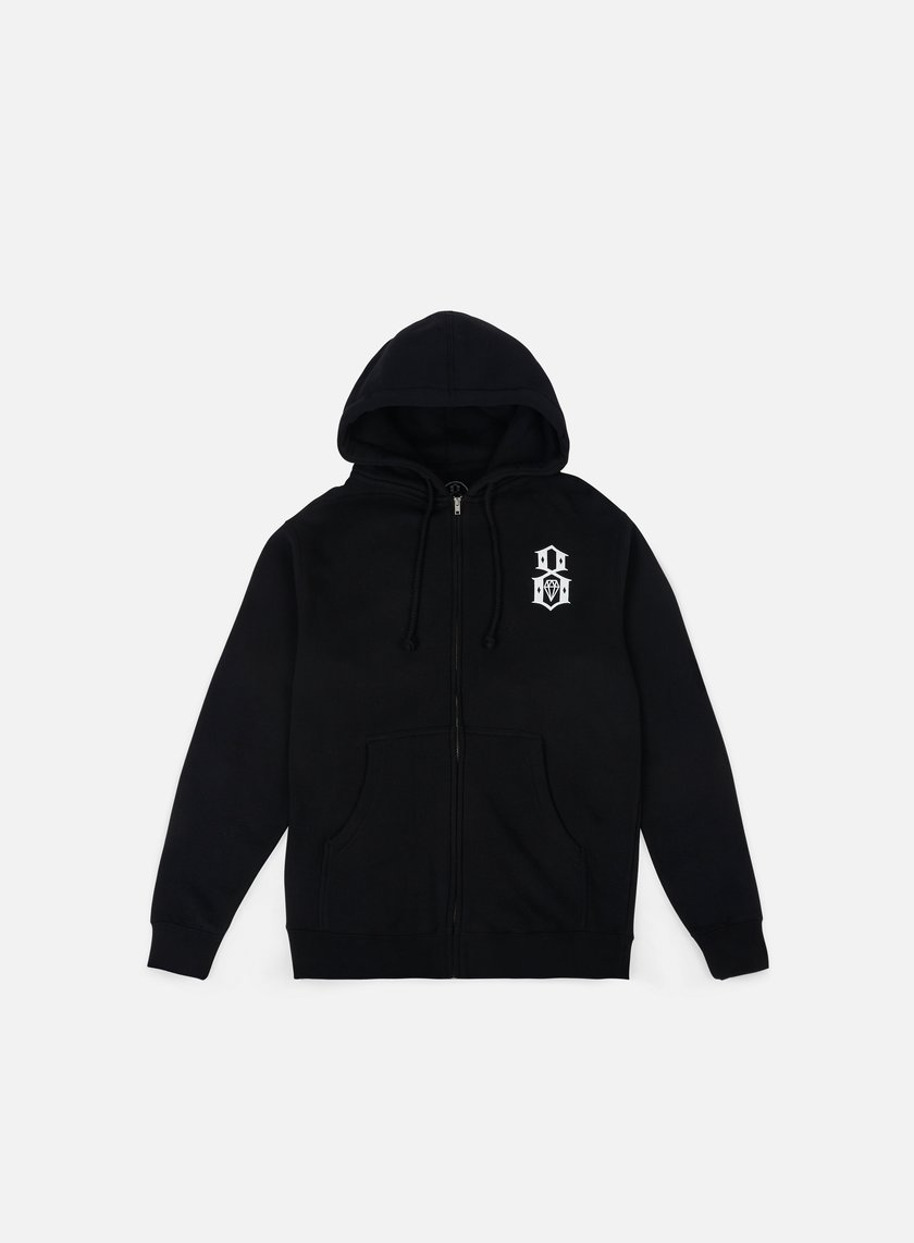 Rebel 8 - Standard Issue Logo Zip Hoodie, Black