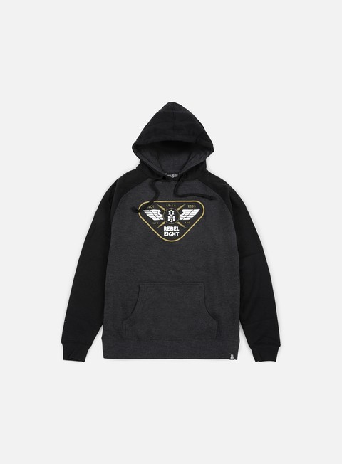 felpe rebel 8 strike twice hoodie charcoal heather