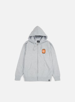 Rebel 8 - Toast To The Worst Zip Hoodie, Grey Heather 1