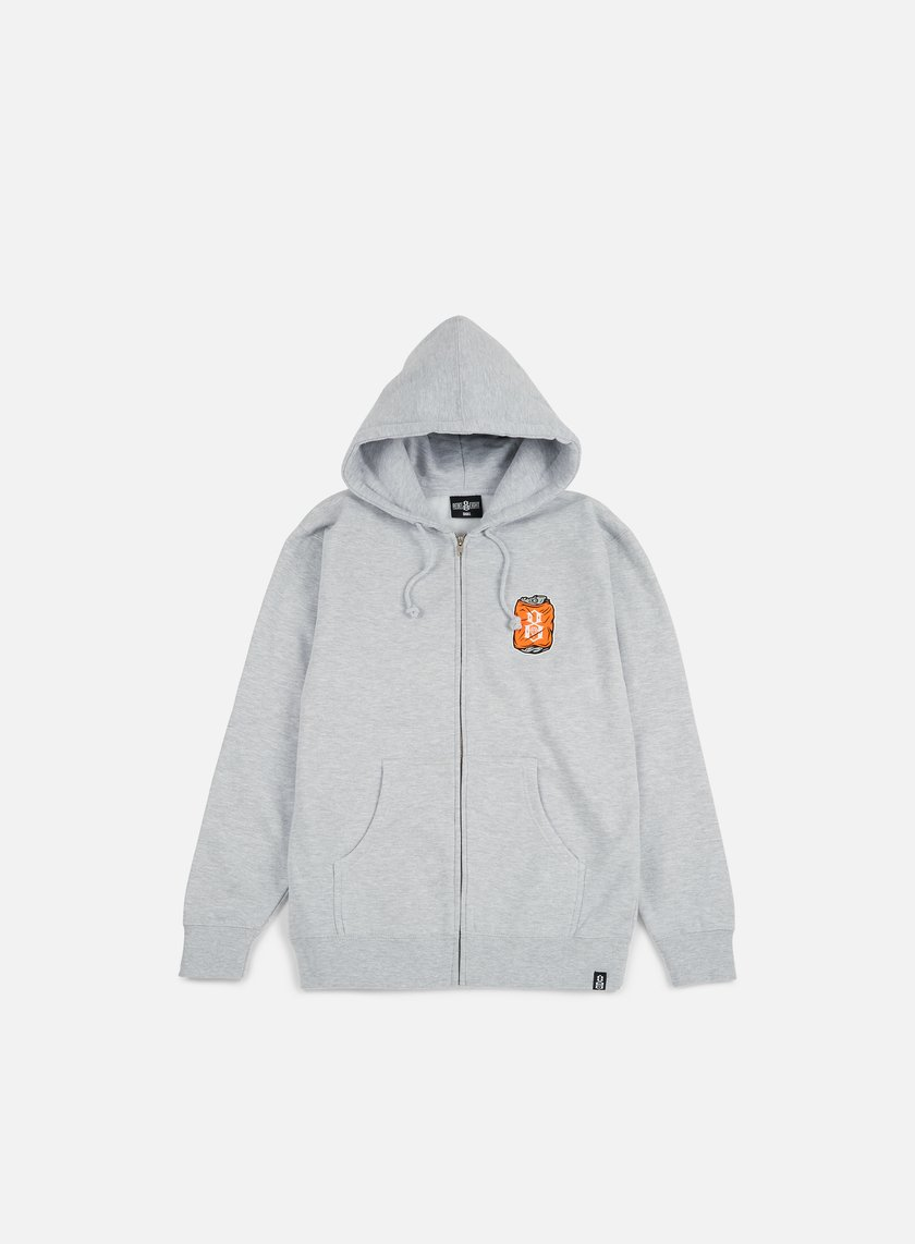 Rebel 8 - Toast To The Worst Zip Hoodie, Grey Heather