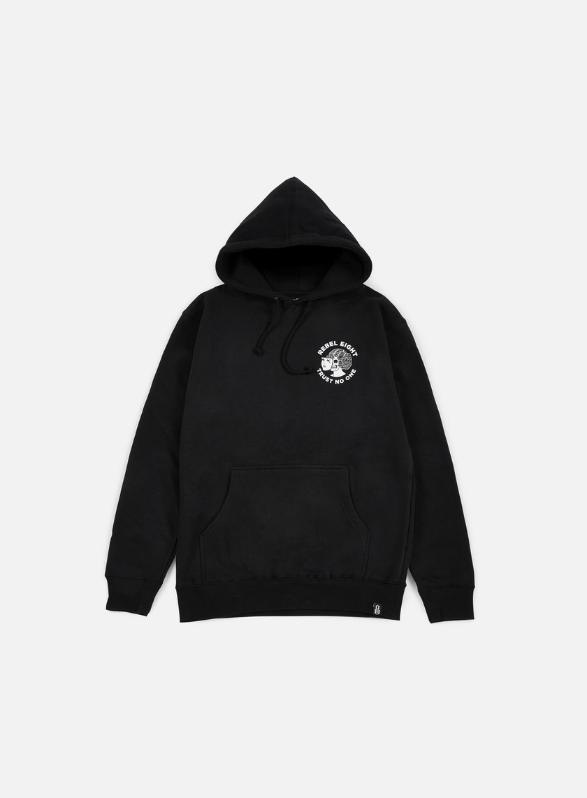 Rebel 8 - Two Faced Hoodie, Black