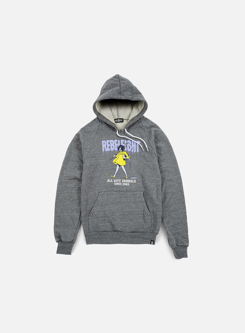 Rebel 8 - WMNS All City Vandals Hoodie, Athletic Heather