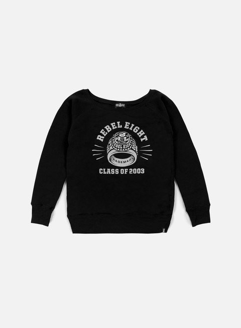 felpe rebel 8 wmns class of 2003 crewneck black