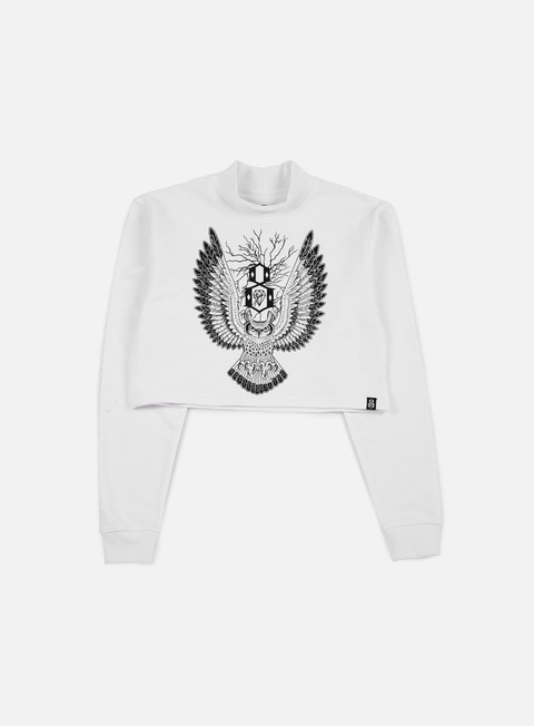 felpe rebel 8 wmns owl mock neck white