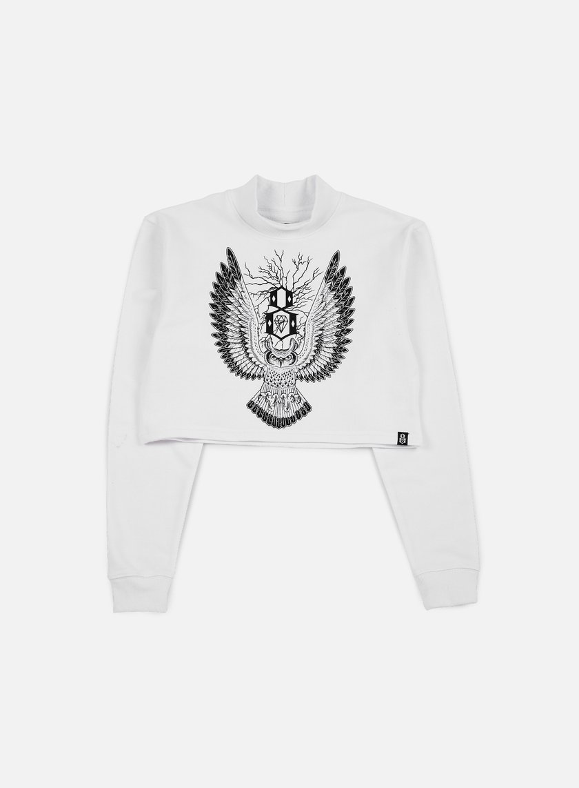 Rebel 8 - WMNS Owl Mock Neck, White