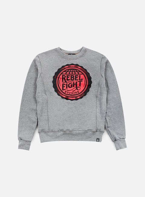 felpe rebel 8 wmns rebel eight studios crewneck athletic heather