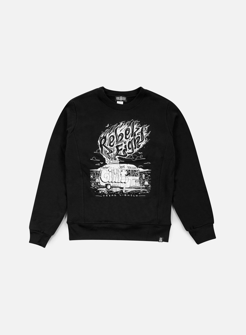 Rebel 8 - WMNS Tread Lightly Crewneck, Black