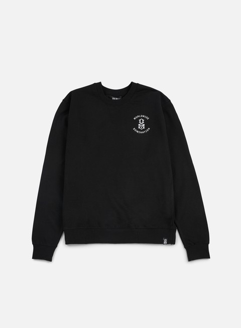 felpe rebel 8 worldwide domination crewneck black