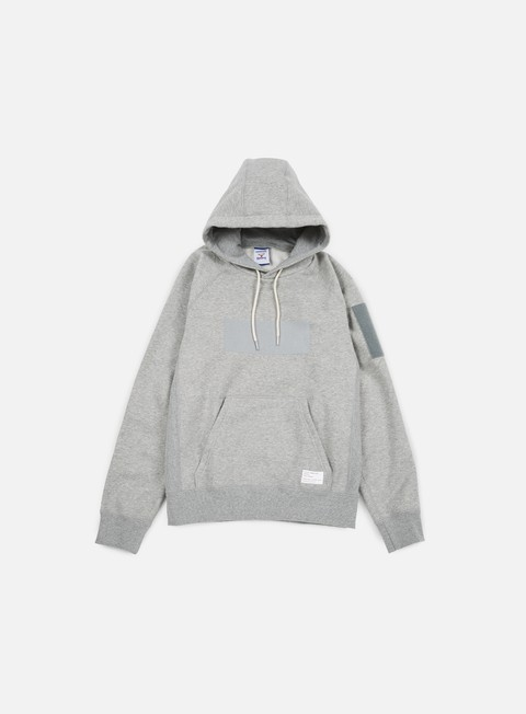 felpe reebok beams hooded sweatshirt medium grey heather