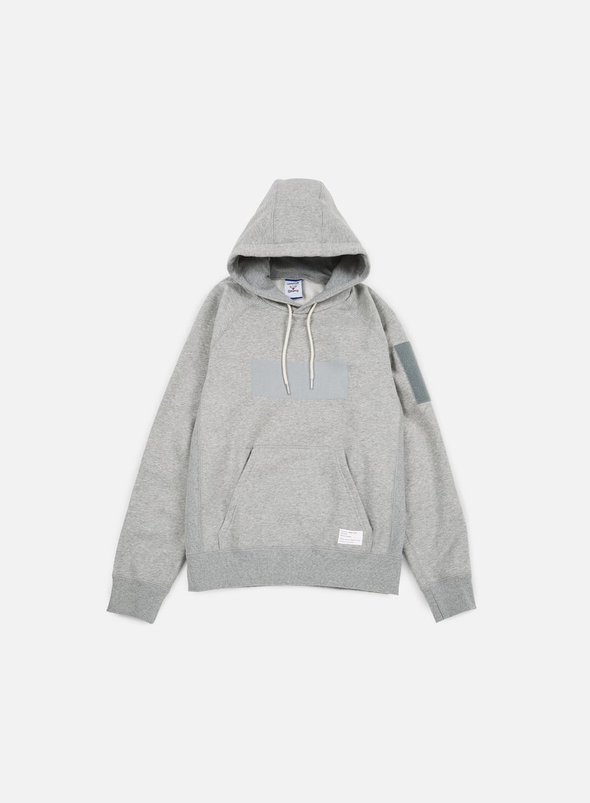 Reebok - Beams Hooded Sweatshirt, Medium Grey Heather
