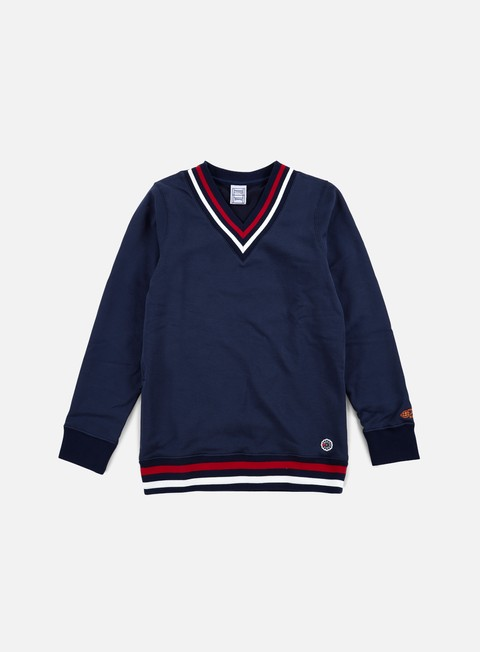 felpe reebok beams tennis v neck sweater collegiate navy