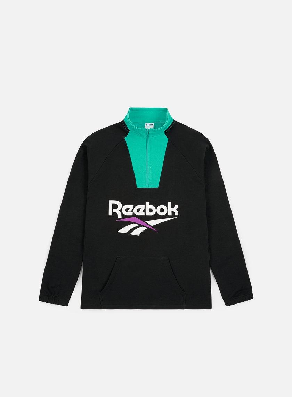 21c552dc115de REEBOK Classic Vector 1 4 Zip Sweatshirt € 30 Zip Sweatshirts ...