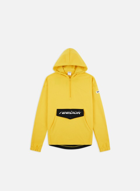 Sale Outlet Hooded Sweatshirts Reebok Classics Advance Half Zip Hoodie
