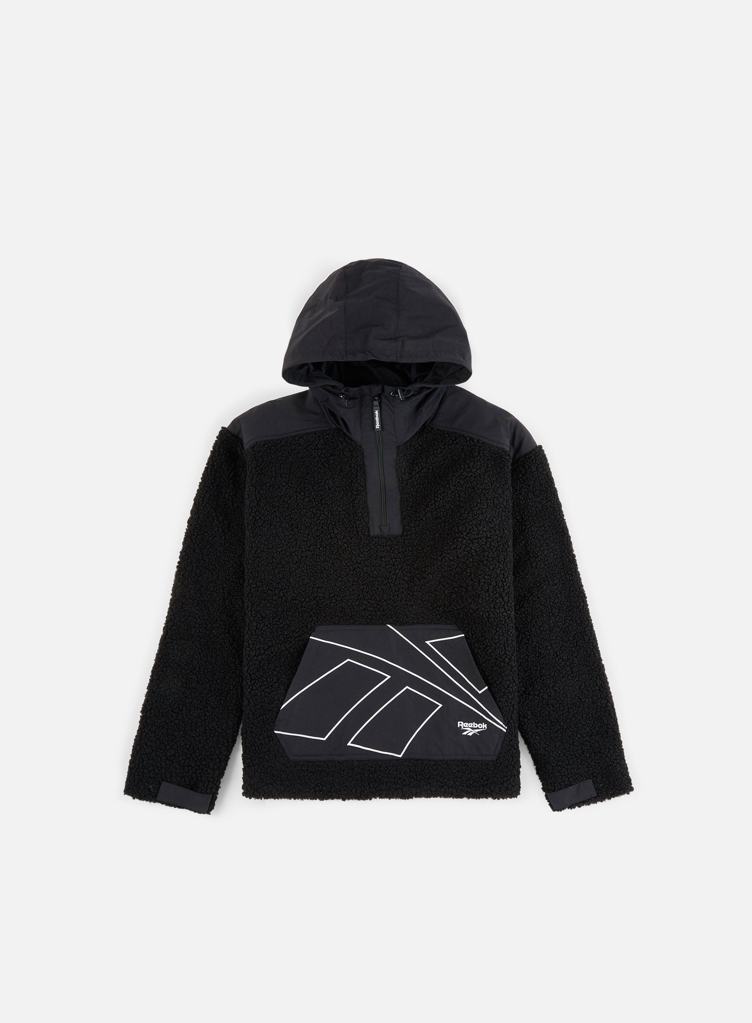 Reebok Classic Half-zip sweatshirt mens long sweatshirt black.