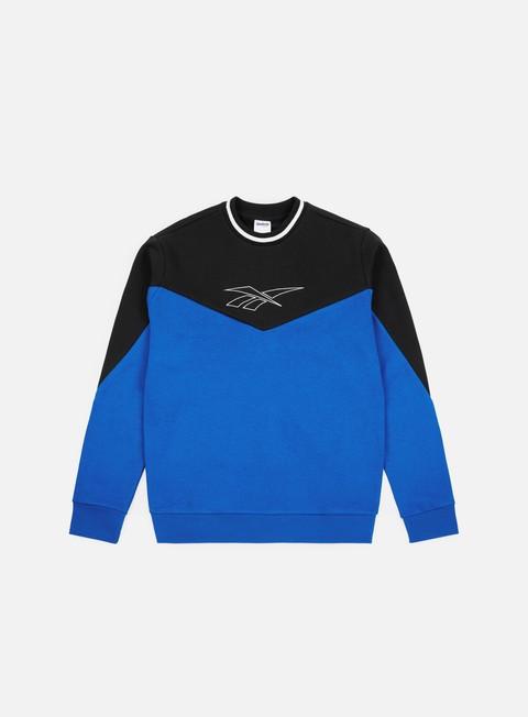 felpe reebok lf crewneck vital blue black