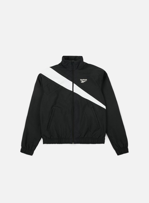 felpe reebok lf track top black white