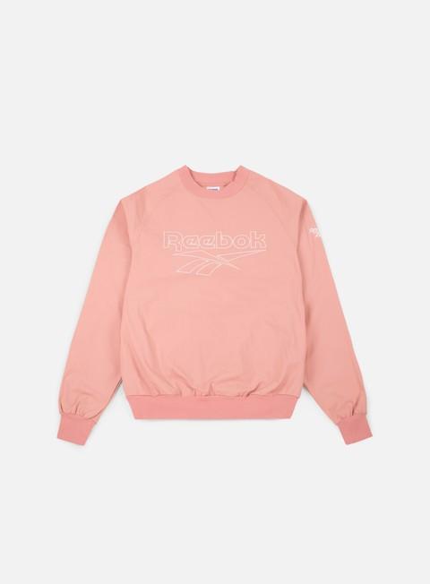 felpe reebok lf woven crewneck chalk pink
