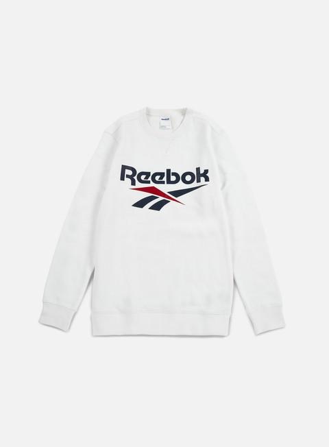 felpe reebok vector crewneck white