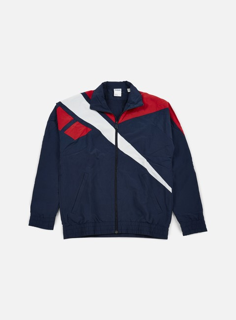 felpe reebok vector track top collegiate navy