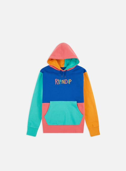 Felpe con Cappuccio Rip N Dip Color Block Multi Panel Hoodie