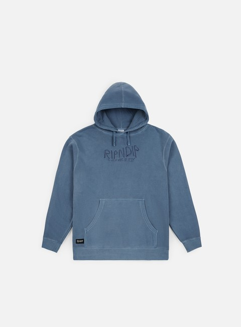 felpe rip n dip great wave of nerm hoodie baby blue
