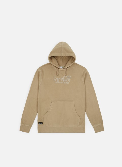 felpe rip n dip great wave of nerm hoodie tan
