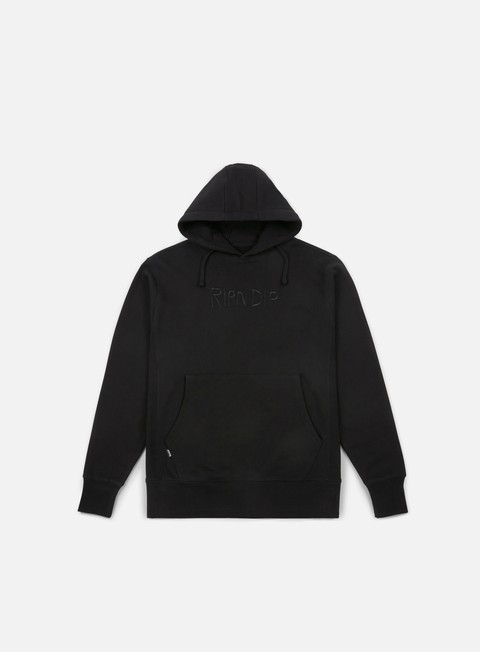 felpe rip n dip logo hoodie black