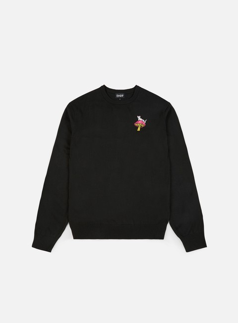 felpe rip n dip psychedelic knit sweater black