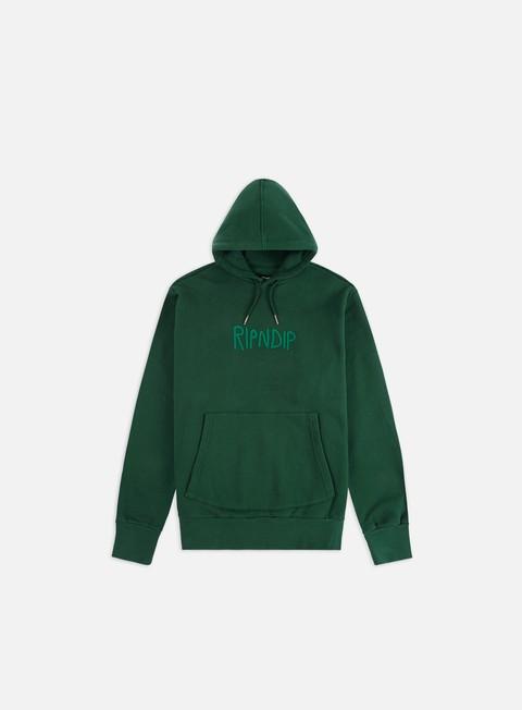 Hooded Sweatshirts Rip N Dip Rubber Logo Hoodie