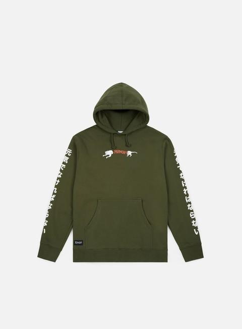 felpe rip n dip zipperface nerm hoodie forest green