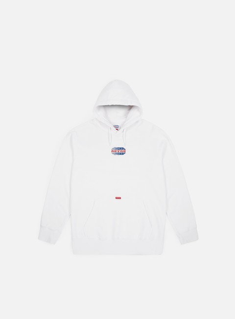 felpe run n gun full color logo hoodie white