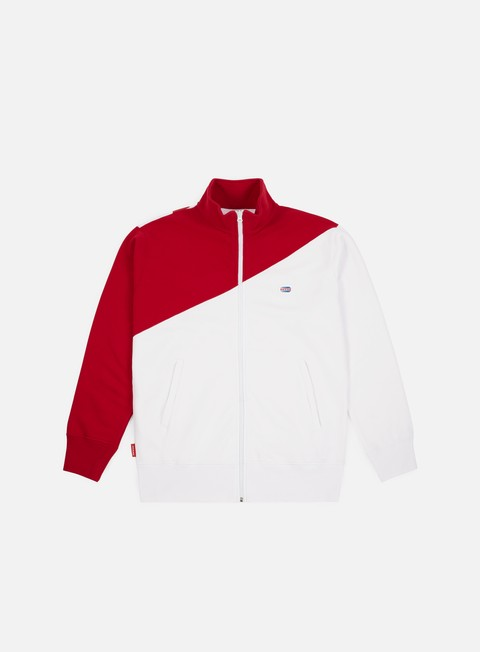 felpe run n gun macro print track jacket red