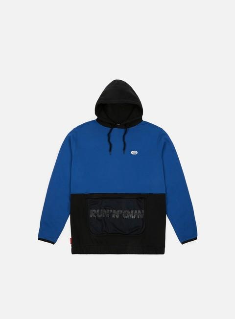 felpe run n gun mesh track hoodie royal