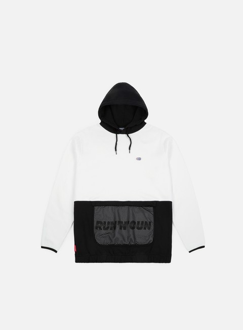 felpe run n gun mesh track hoodie white