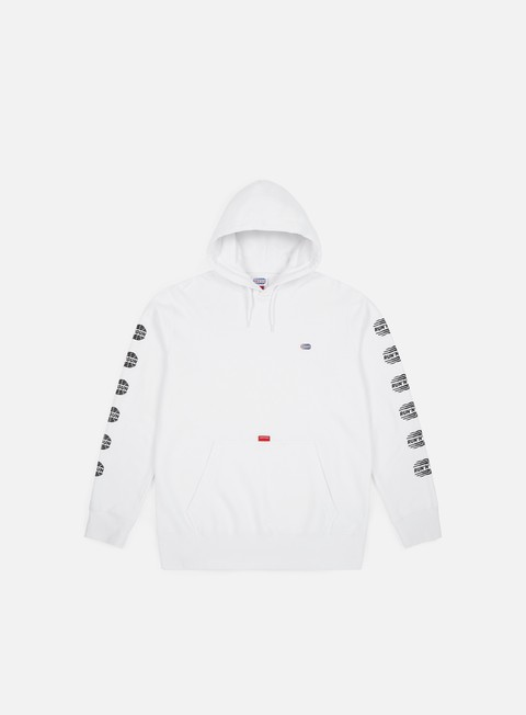 felpe run n gun repetition logo hoodie white