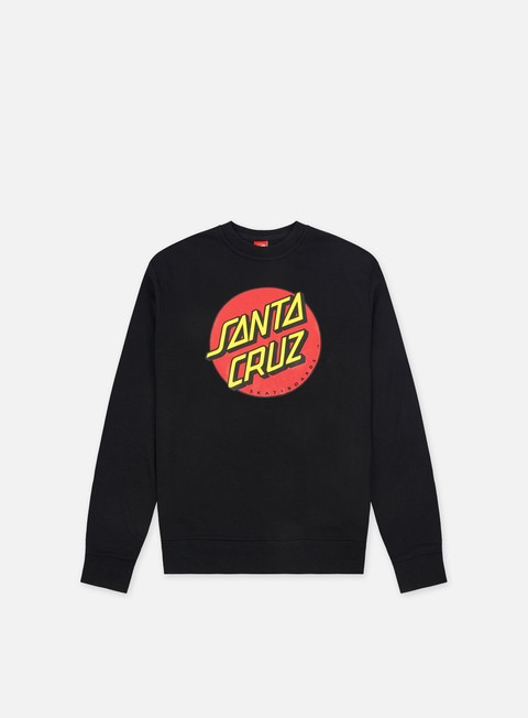 felpe santa cruz classic dot crewneck black