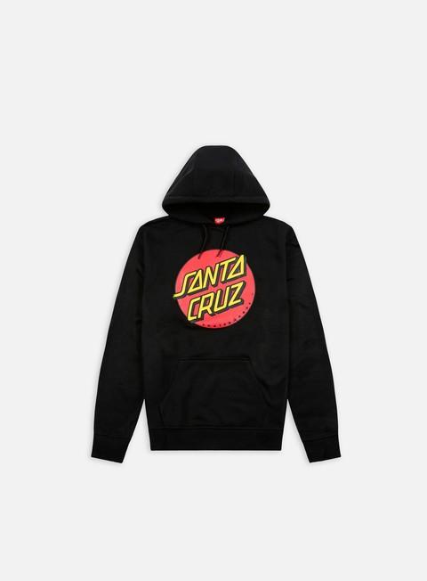 felpe santa cruz classic dot hoodie black