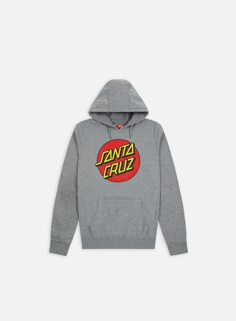 felpe santa cruz classic dot hoodie dark heather