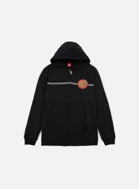 felpe santa cruz classic dot zip hoodie black